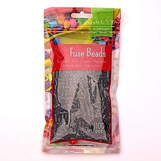 Vaessen Creative Perlas Fusibles, Negro, Set de 1100 Piezas DIY para Niños, Creación de Joyas, Decoraciones Hechas en Casa...