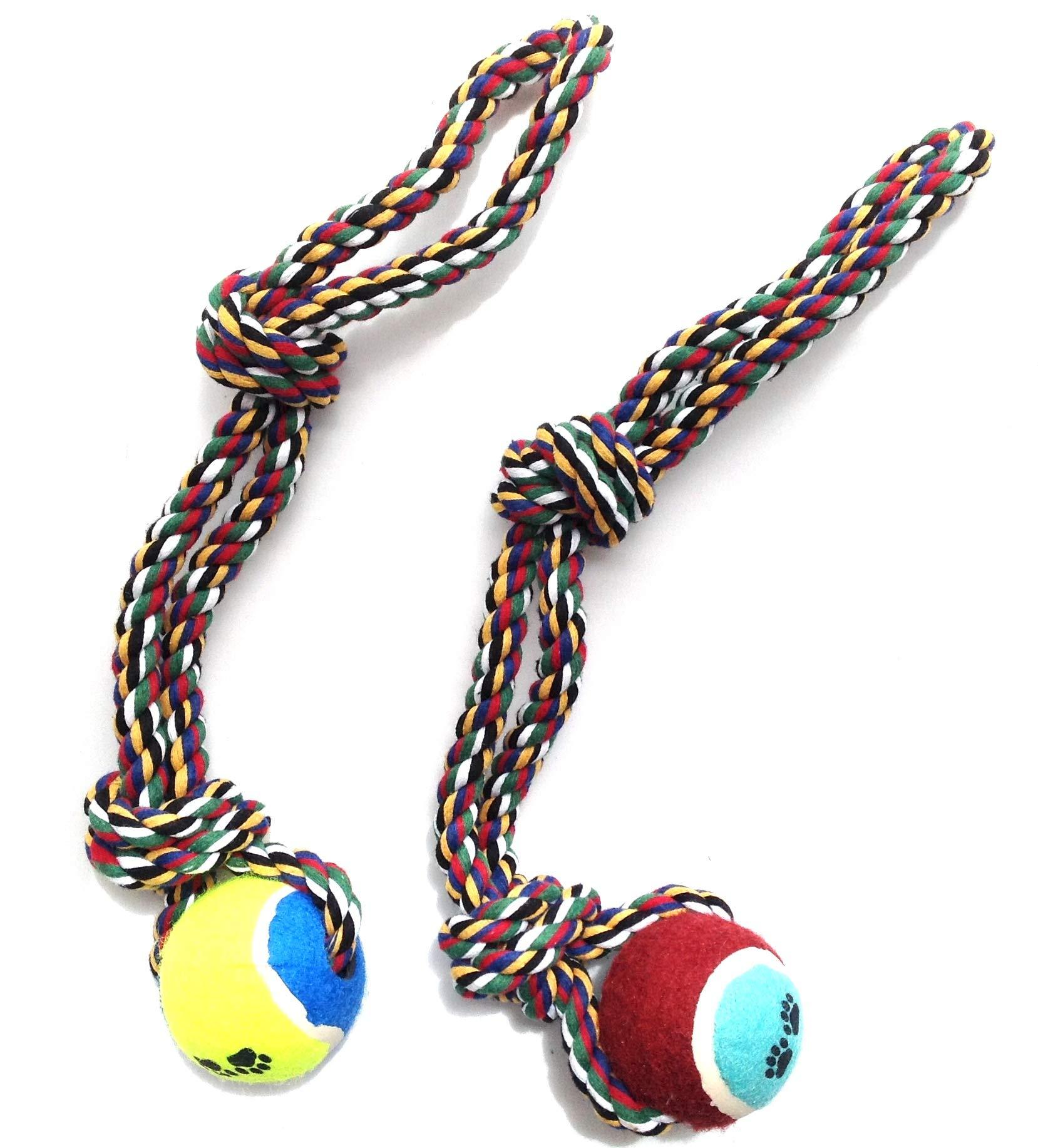 2 pcs juguete cuerda con pelota para perro mascota animales ...