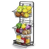 Deals on Moukabal 3 Tier Mini Vegetable Storage w/Removable Baskets