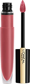 L'Oréal Paris Makeup Rouge Signature Parisian Sunset Collection, Lasting Matte Lip Stain,Ultra Lightweight & Comfortable, High Pigment, Precise Applicator Shapes & Lines Lips, I Choose, 0.23 oz.