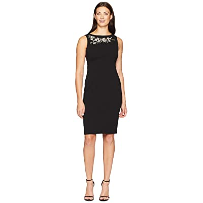 Calvin Klein Embellished Sheath Dress CD8C16RA (Black) Women