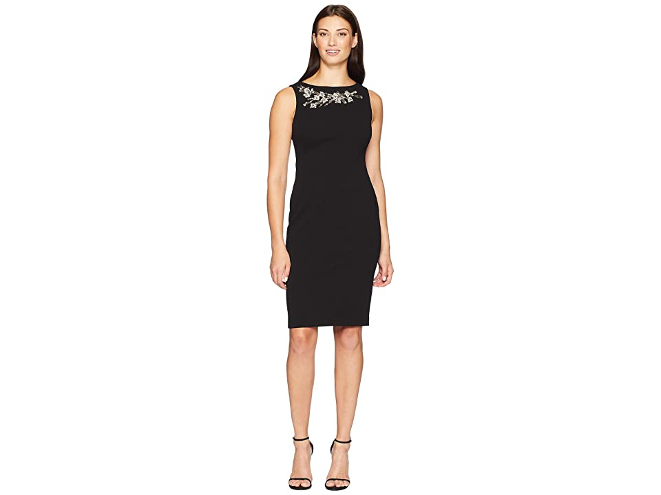 Calvin Klein Embellished Sheath Dress CD8C16RA (Black) Women