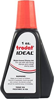 Trodat 45174 Ideal Premium Replacement Ink for Use with Most Self Inking and Rubber Stamp Pads, 1oz, Red