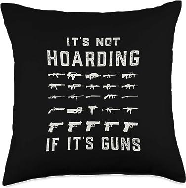 Gun Lovers It's Not Hoarding 2nd Amendment Pro Gun Throw Pillow, 18x18, Multicolor