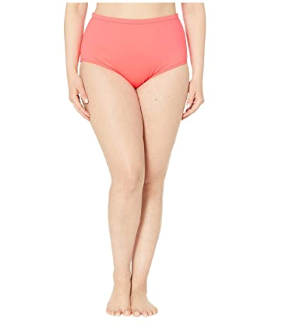La Blanca Plus Size Island Goddess Solid Hipster (Watermelon) Women