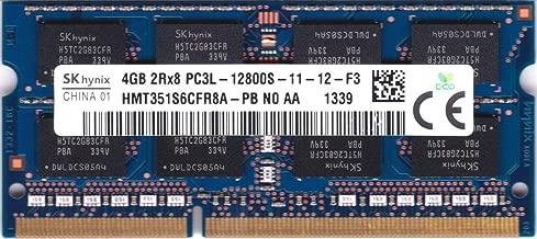 Hynix 4GB PC3-12800 DDR3-1600MHz non-ECC Unbuffered CL11 204-Pin SoDimm 1.35V Low Voltage Dual Rank Memory Module Mfr P/N HMT351S6CFR8A-PB