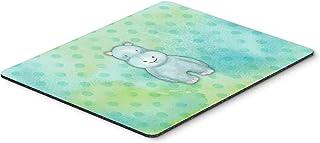 "Caroline's Treasures Polka dot Hippopotamus Watercolor Mouse Pad, Hot Pad or Trivet, 7.75""x9.25"", Multicolor (BB7389MP)"