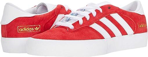 Scarlet/Footwear White/Gold Metallic