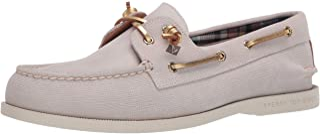 حذاء Sperry للسيدات A/O Plushwave Saffiano/Metallic جلد Boat