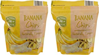 Southern Grove Naturally Flavored Packaged Dried Fruit (Banana Chips, Two 12oz Bags)