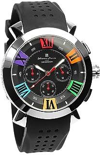 [サルバトーレマーラ] 腕時計 ウォッチ 立体インデックス クロノグラフ ビジネス カジュアル メンズ