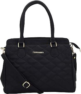 Lapis O Lupo Women Vegan Leather Handbags Quilting Fashion Satchel Bags Shoulder Purses Top Handle