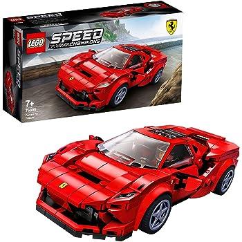 LEGO SpeedChampions FerrariF8Tributo, Giocattolo Ispirato alle Corse,con Minifigura del Pilota, Set da Costruzione di Auto da Corsa, 76895