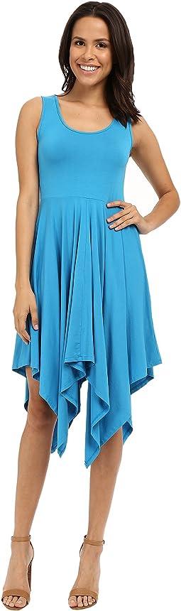 Cotton Modal Spandex Jersey Hanky Hem Tank Dress