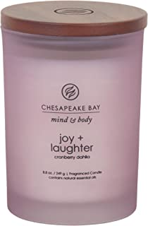 Chesapeake Bay Candle Mind & Body Collection Medium Jar Candle, Joy + Laughter (OLD MODEL)