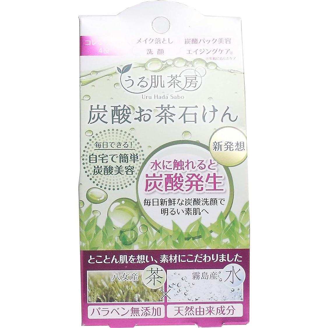 リズミカルな全能しみうる肌茶房 炭酸お茶石鹸 (スパークリングソープ)