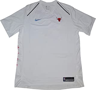 NIKE Dry Chicago Bulls Dri Fit Short Sleeve Men's Shooting Performance Shirt