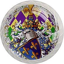 Lade knoppen ronde kristallen glazen kast handgrepen Pull 4 Pcs,Art Ridder Guardian