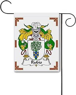 Carpe Diem Designs Rubio Coat of Arms/Rubio Family Crest 11 X 15 Garden Flag – Made in The U.S.A.