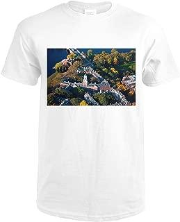 Cambridge, Massachusetts - Aerial View of Eliot House Clock Tower, Harvard - Photography A-93083 93083 (Premium White T-Shirt X-Large)