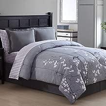 Ellison Great Value Bainbridge 6 Piece, Twin Bed in a Bag, Gray