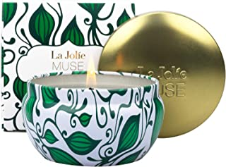 LA JOLIE MUSE Sacred Sage Candle, 100% Natural Soy Candle for Home, Sage Lavender Rosemary, 45 Hours Long Burning, Tin, 6.5Oz