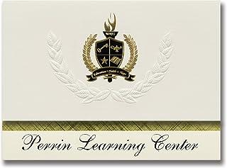 Signature Ankündigungen Ankündigungen Ankündigungen Perrin Learning Center (Denison, TX) Graduation Ankündigungen, Presidential Stil, Elite Paket 25 Stück mit Gold & Schwarz Metallic Folie Dichtung B078VFCHJX  Wertvolle Boutique 4b3cd8