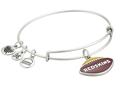 Alex and Ani Color Infusion Washington Redskins Football II Bangle (Rafaelian Silver) Bracelet