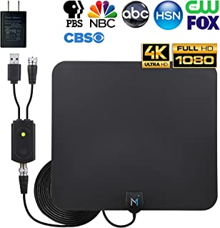 HD Digital TV Antenna 50-75 Miles Long Range Signal Reception; Low Noise Amplifier to Boost Signal is Included; Supports All TV formats; 4K, 1080p and More, Mata1 (a USA Company)