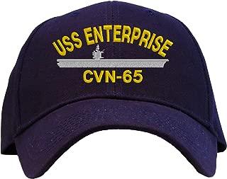 USS Enterprise CVN-65 Embroidered Baseball Cap - Navy