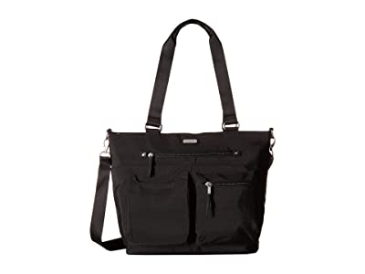 Baggallini New Classic Any Day Tote with RFID Phone Wristlet (Black) Tote Handbags