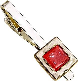 Krawattenklammer • Rot • Krawattennadel • Tschechisches Glas mit Platin überzogen • Handgefertigt