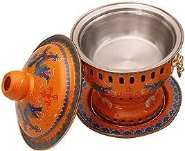 Grill électrique portable, Cookware Cookware Fondue Friteuses Vieux Pékin Chinois Grand cuivre Charbon traditionnel Charbo...