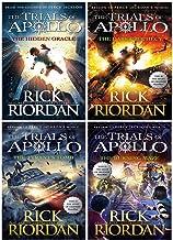 Rick Riordan Trials of Apollo Collection 4 Books Set (Dark Prophecy, Hidden Oracle, Burning Maze, The Tyrants Tomb [Hardco...
