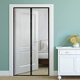 Magnetic Screen Door Keeps Bugs Out Fits Door Size Up to 38 inches x 84 inches Hands Free Heavy Duty Mesh Curtain
