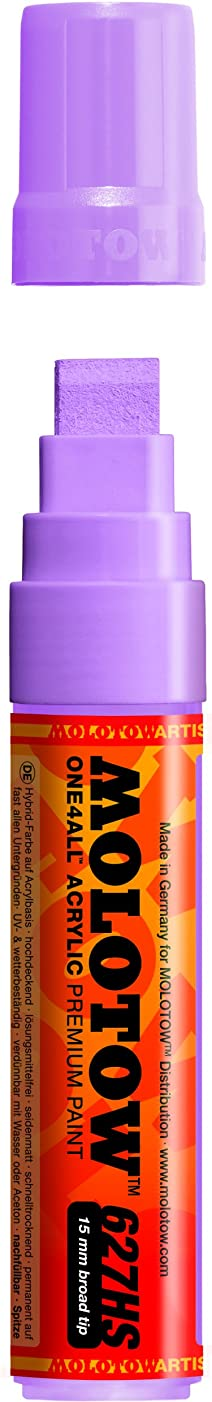 Molotow ONE4ALL Acrylic Paint Marker, 15mm, Lilac Pastel, 1 Each (627.216)