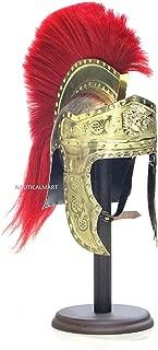 Roman Emperors Praetorian Guard Medieval Brass Helmet with Red Plume