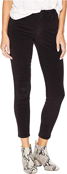 Ava Mid-Rise Skinny Jeans in Lucky Black