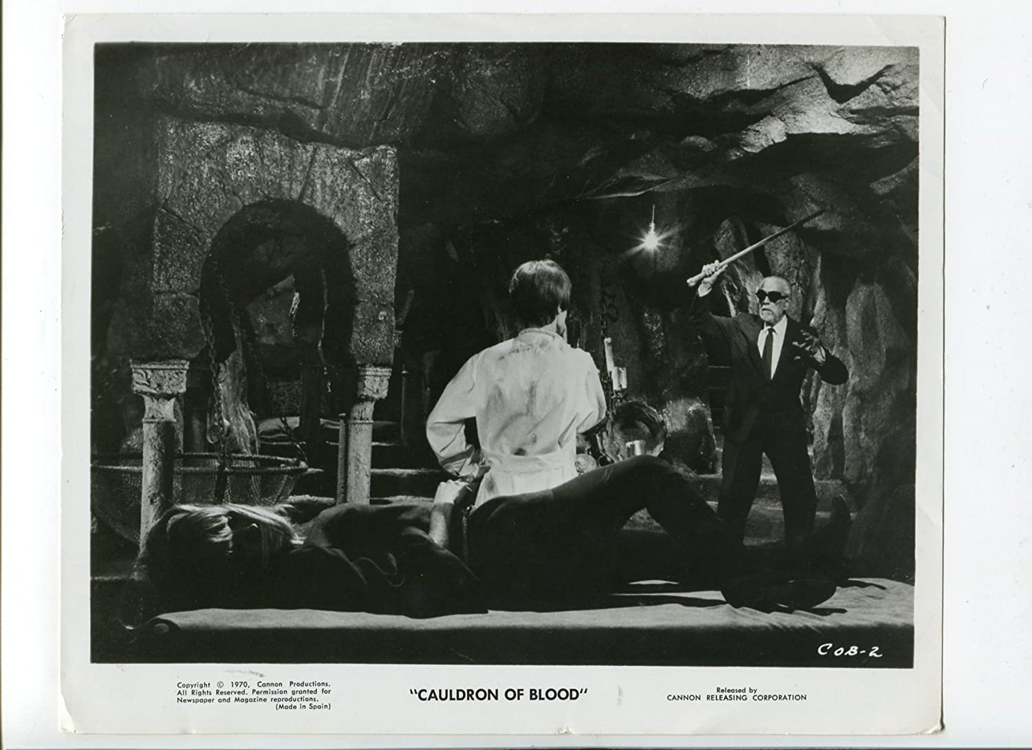 MOVIE PHOTO: Cauldron Spring new work one after another Al sold out. Of Blood-Jean-Pierre Aumont-BW-Still