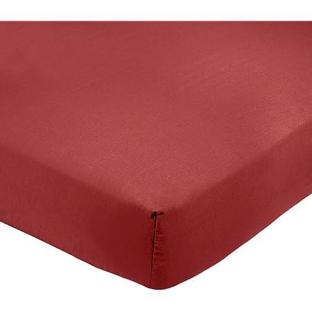 Amazon Basics AB 200TC Poly Cotton, mélangé, Bordeaux, 90 x 190 x 30 cm