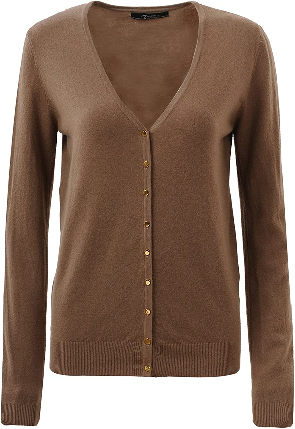 GLOSTORY Women's Casual Button Down Long Sleeve Cardigans Knit Sweaters 2604