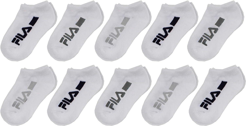 Fila Kids Boys 10-Pack No Show Socks