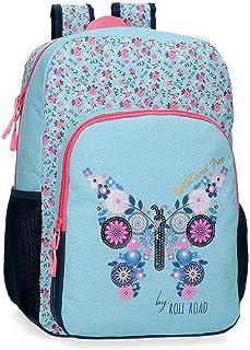 Wild and Free Mochila Escolar Azul 30x40x13 cms Poliéster 15.6L