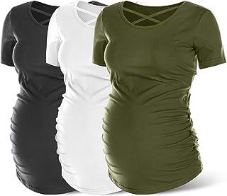 Womens Short Sleeve Maternity Tops Pregnancy T-Shirt...