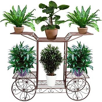 Metall Pflanzentreppe Blumentreppe Pflanzregal Ständer 6 Ebenen für 9 Blumentopf
