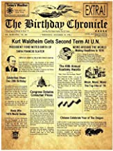 NAMES TO REMEMBER What's in a Name? The Birthday Chronicle 11 inch x 14 inch on The Month/Year You were Born Newspaper Birthdates 01/01/1917 to 12/31/2016 (Larger Size Old Parchment Art Background)