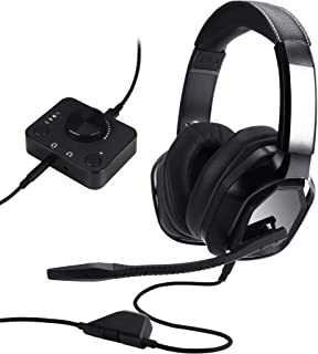 Amazon Basics Premium Gaming Headset for PC and Consoles (Xbox, PS4) with Desktop Mixer - Black