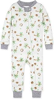 Burt's Bees Baby Baby Boys' Zip Front Non-Slip Footed Sleeper Pjs, 100% Organic Cotton