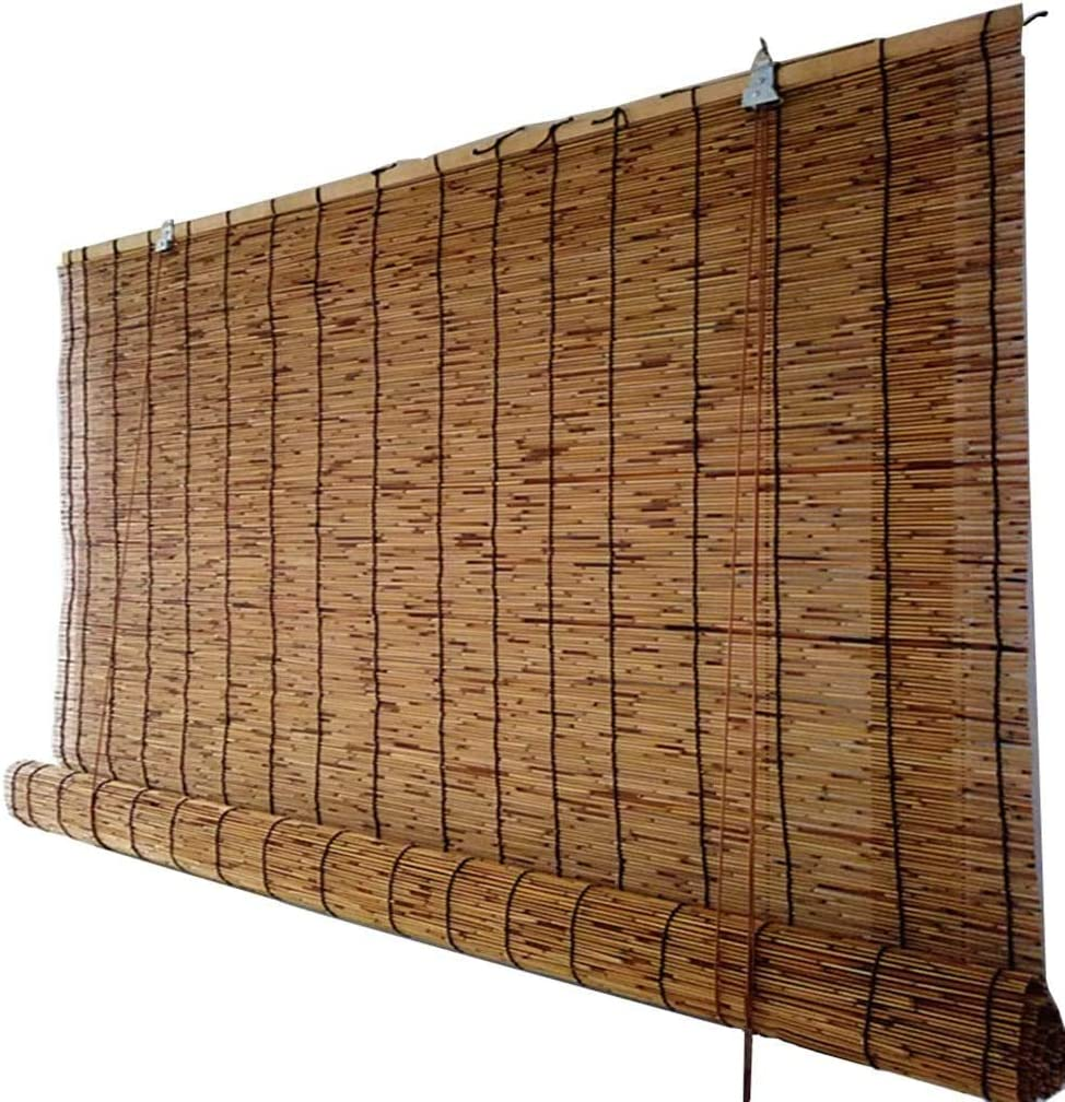 DONGZHI Bamboo Roll Up Window Shades Blinds Luxury Patio Sun Discount mail order Roller -