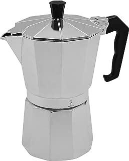 Argon Tableware 6 Cup Italian Style Stove Top Espresso Coffee Percolator. Traditional Design